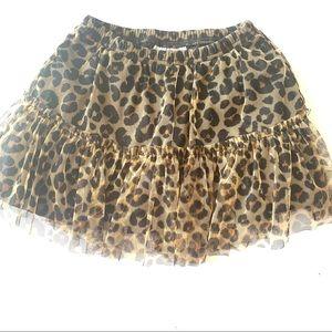 Jumping Bean Size 6 Leopard Lace Skirt Kids Girls